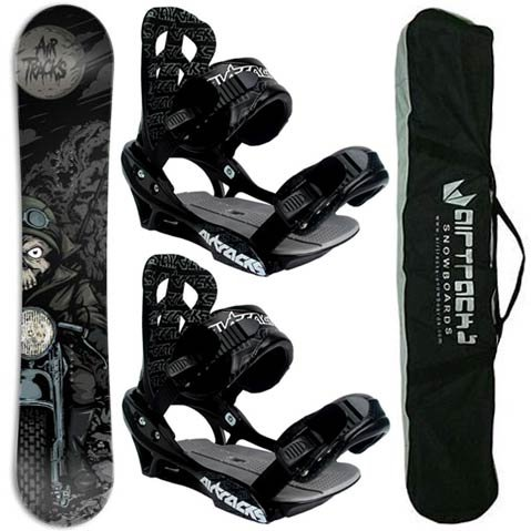 AIRTRACKS SNOWBOARD SET - BOARD FURY 159 - SOFTBINDING SAVAGE L - SB BAG