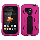 MYBAT ASAMM830HPCSYMS004NP Symbiosis Dual Layer Protective Hybrid Case with Kickstand for Samsung Galaxy Rush M830 - 1 Pack - Retail Packaging - Black/Hot Pink