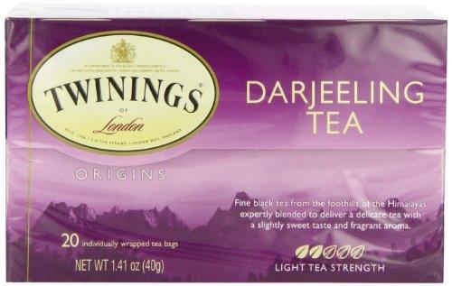 Twinings Darjeeling Tea, Tea Bags, 20-Count Boxes (Pack of 6)
