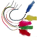 Girls 10 Roped Girls Friendship Hair Clips Extensions Color Feathers Gift Pack Fair Trade Peru