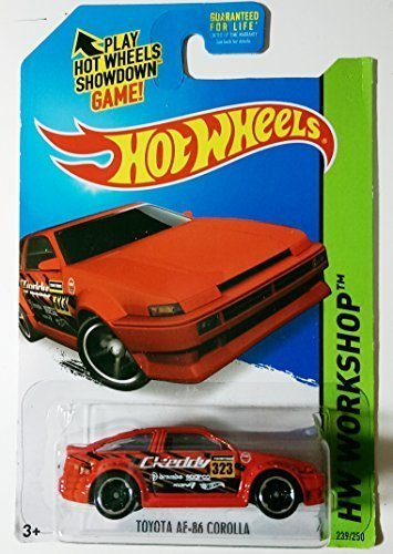 Hot Wheels, 2015 HW Workshop, Toyota AE-86 Corolla [Red] Die-Cast Vehicle #239/250