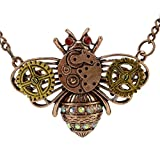 Chiou Alloy Insect Bee Beetle Steampunk Steam Punk Gear Pendant Bumble Bee Necklace