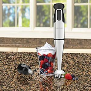 Cuisinart HB-155PC Smart Stick Hand Blender with Blending and Whisk Attachments by Cuisinart