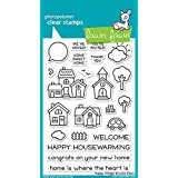 Lawn Fawn Clear Stamps LF1591 Happy Village (Color: Grey)