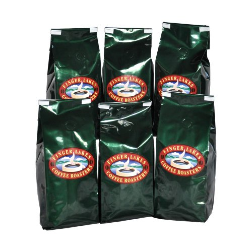 Finger Lakes Coffee Roasters, Seneca Blend Coffee, Ground, 12-ounce bags (pack of six)
