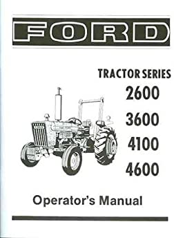 ford tractor 2600  3600  4100  4600 owners instruction