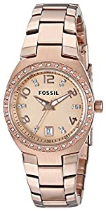 Fossil Women's AM4508 Serena Three Hand Stainless Steel Watch - Rose Gold-Tone