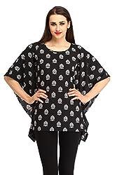 Cottinfab Women Viscose Black Tops (Medium)