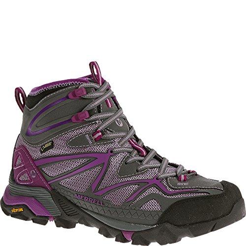 Merrell Women's Capra Sport Mid Gore-Tex Hiking Boot, Purple, 7.5 M US