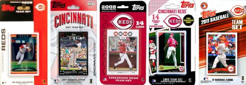 Mlb Cincinnati Reds 5 Different Licensed Trading Card Team Sets