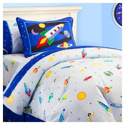 Best Prices! Olive Kids Out of This World Cotton Duvet Cover, Full/Queen