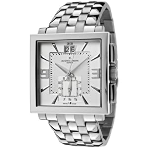 Jacques Lemans Men's GU207E Geneve Collection Quadrus Stainless Steel Watch
