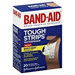 Band Aid Tough Strips Adhesive Bandages, Waterproof, All One Size, 20 bandages