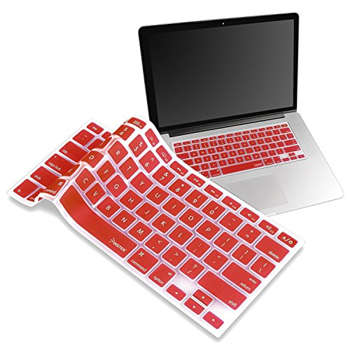 IVEA Keyboard Silicone Cover Skin for New Aluminum Unibody Macbook Pro 13, 15, 17 inches -FIT ALL (RED) (Sili Co compare prices)
