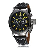 iSweven isweven V6 Big dial watch classic casual leather Designer watch Analogue Black Unisex Wrist Watch W1023bb