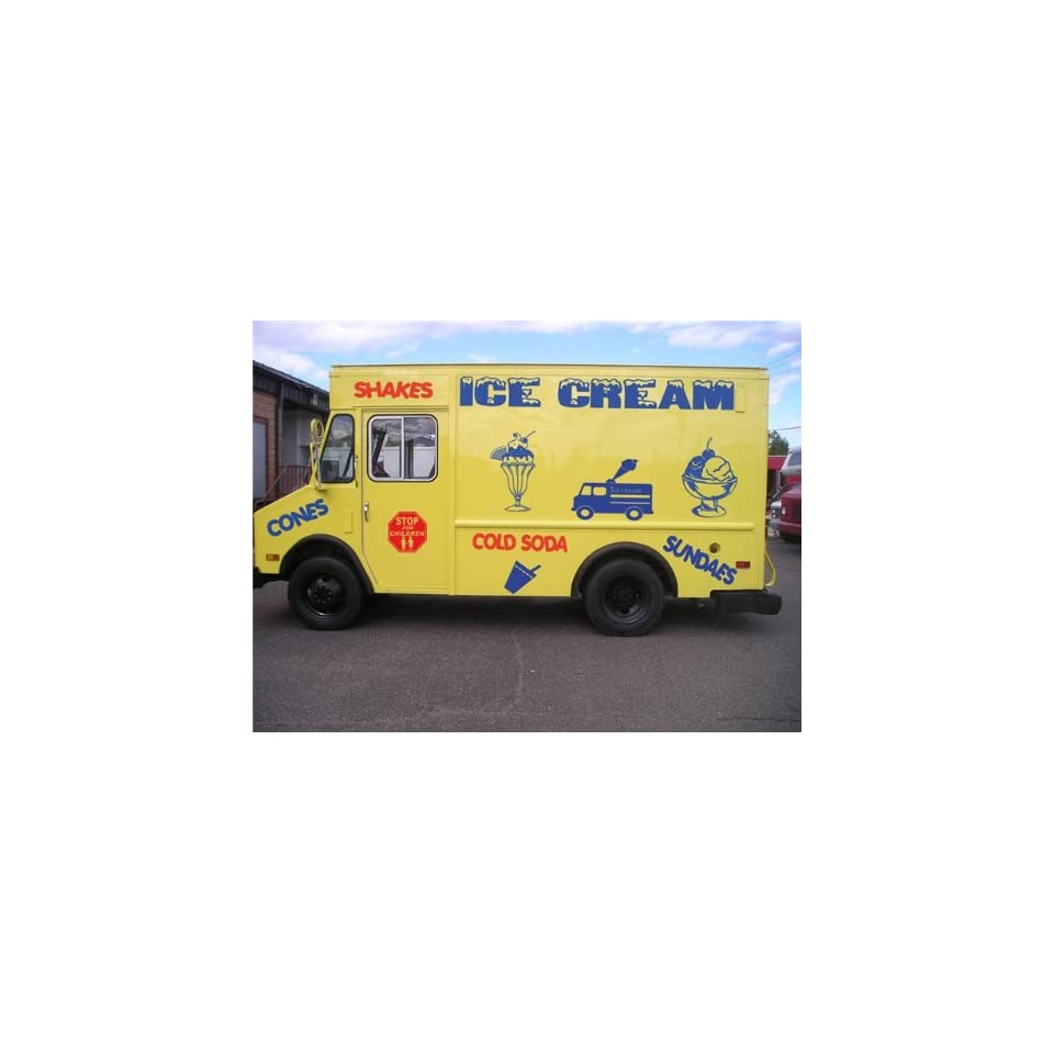 ICE CREAM TRUCK GRAPHICS VINYL STICKER DECALS KIT 07