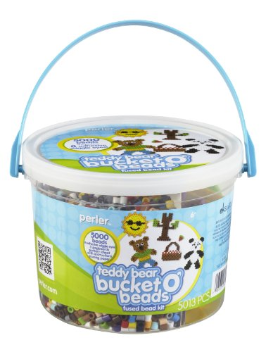 Perler Bucket O' Beads Fun Fusion Fuse Bead Kit-Teddy Bear - 1