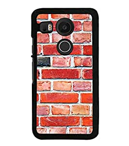 Red Bricks 2D Hard Polycarbonate Designer Back Case Cover for LG Nexus 5X :: LG Google Nexus 5X New