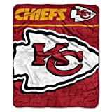 NFL Kansas City Chiefs Micro Raschel Plush Throw Blanket, Livin Large Design at Amazon.com