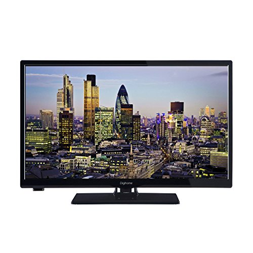 Digihome 24273DVDT2HD Black 24Inch HD Ready LED TV Built in DVD Player Freeview HD 2x HDMI and 1x USB Port