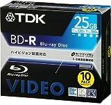 TDK 録画用ブルーレイディスク 25GB 1回録画用(追記型) 10枚パック BDV-R25X10S
