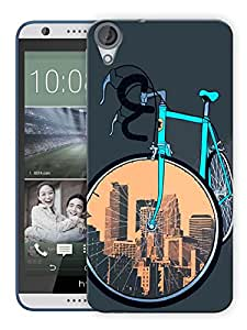"""Humor Gang Cycle Covers Cities Printed Designer Mobile Back Cover For """"HTC DESIRE 820"""" (3D, Matte, Premium Quality Snap On Case)"""