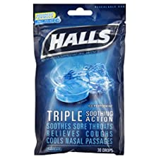 Halls Cough Suppressant/Oral Anesthetic, Menthol, Ice Peppermint, 30 drops
