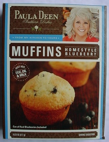 PAULA DEEN Homestyle BLUEBERRY MUFFIN Mix 18.25 oz