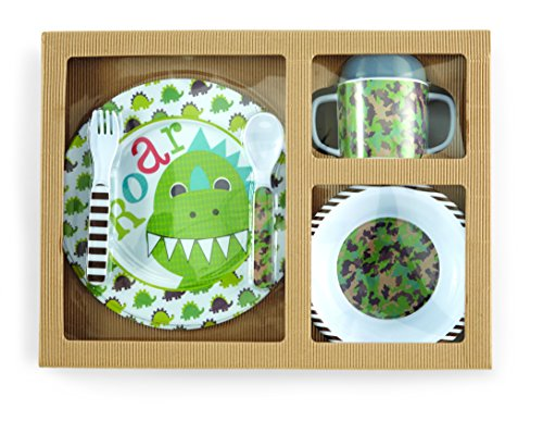 Mud Pie Feeding Set, Dino - 1