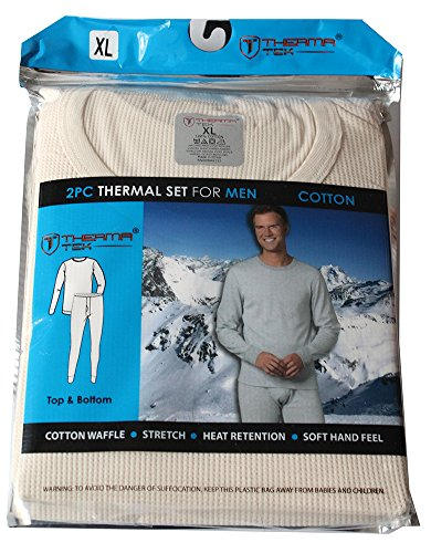 therma-tek-formerly-comfort-fit-winter-mens-thermal-100-cotton-top-bottom-2-pcs-set-rice-white