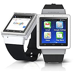 Indigi Android 4.4 SmartWatch 3G+WiFi Wrist Phone Bluetooth Google Play Store Unlocked! Smart Watches Unlocked Smartphone