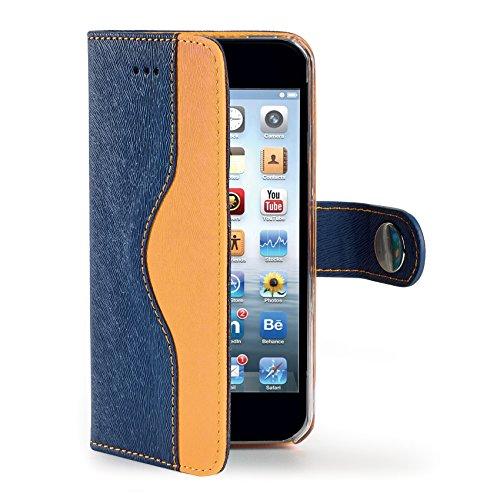 Celly Custodia a Portafoglio Onda per iPhone 6, Blu