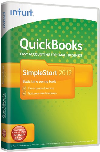 QuickBooks SimpleStart 2012, 1 User (PC)