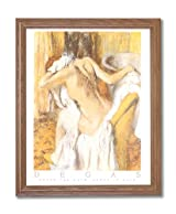 Degas French Girl Bath Contemporary Home Decor Wall Picture Oak Framed Art Print