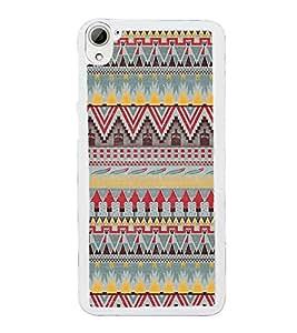 Multi Colour Pattern 2D Hard Polycarbonate Designer Back Case Cover for HTC Desire 826 Dual Sim
