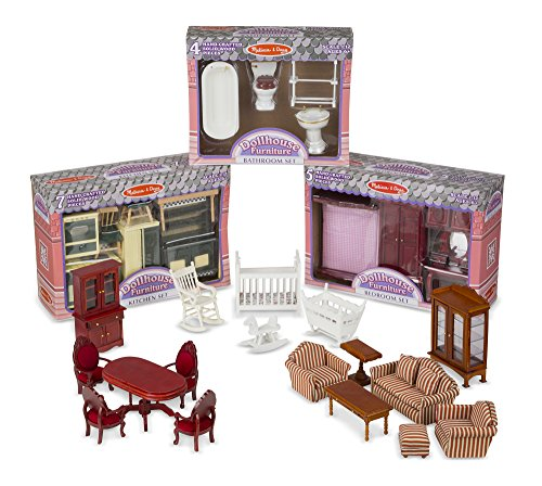 Melissa Doug Victorian Dollhouse Furniture Bundle