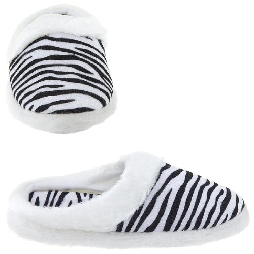 Cheap Zebra Stripe Slippers for Women (B009TH3BG0)