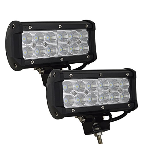 Willpower 7 inch 2x36w Flood LED Work Light Bar for Truck Car ATV SUV 4X4 Jeep Truck Driving Lamp (02 F250 Headlight Switch compare prices)