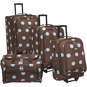 Click to buy Light Weight Luggage: American Flyer Grande Dots 4-Piece Luggage Setfrom Amazon!