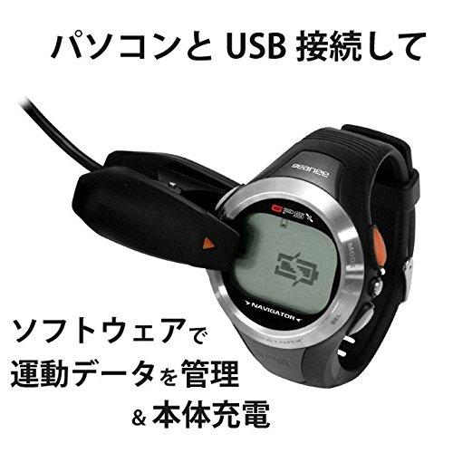 geanee スポーツウォッチ 腕時計 デジタル GSW-01 ジーニー。心拍数を確認しながら、速度