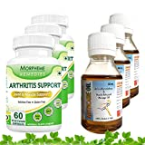 Morpheme Arthritis Support + Arthcare Oil For Back Pain, Joint Pain & Arthritis (3 Combo Pack)