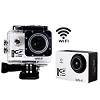 """1+1®Wifi Full Hd 1080p Sport Action Camera1.5"""" LCD 170 Degree Wide Angle Waterproof Cam DV Camcorder Outdoor for Diving Swimming Bicycle Motorcycle Sliver with Free Accessories Kit(White)"""