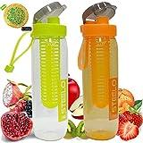 #6: Steelo Fruit Infuser Water Bottle - 750 Ml Set Of 2