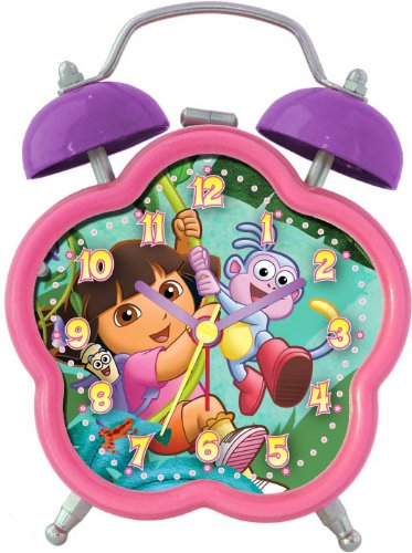 Nickelodeon Dora the Explorer DEC196 Quartz Analog Alarm Clock (Pink/Purple) - 1