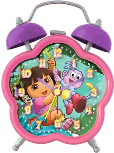 Nickelodeon Dora the Explorer DEC196 Quartz Analog Alarm Clock (Pink/Purple) - 1