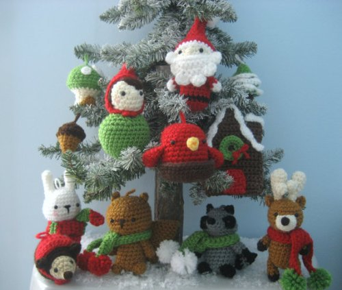 Amigurumi Woodland Animals Patterns : Enchanted Forest Creatures Crochet Patterns - Gnomes, Fox ...
