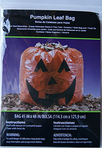 Goofy Pumpkin Leaf Bag Decoration