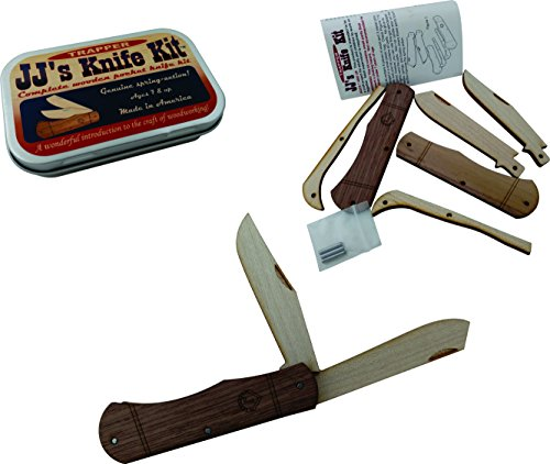 JJ's Trapper Wooden Pocket Knife Kit - Great for teaching knife safety and handling