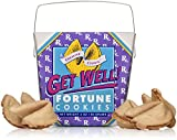Get Well - Get Better Soon Gift - Fortune Cookies In A Gift Box - 8 Pieces Traditional Vanilla Flavor Individually Wrapped - Kosher Certified