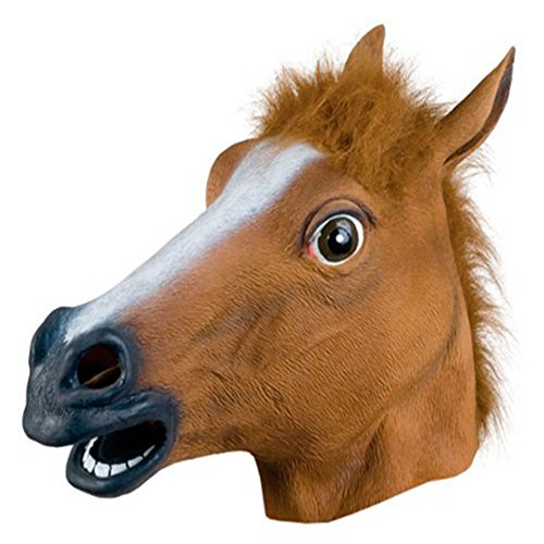 NonEcho Animal Masks for Adult Latex Horse Head Halloween Mask